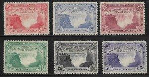 RHODESIA  76-81 MINT HINGED, VICTORIA FALLS SET 1905