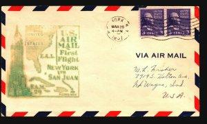 US 1951 FFC NY to San Juan - Z17566