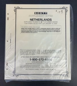 Netherlands, Scott Specialty Album Supplement 2008, Supplement 59, Item #335S008