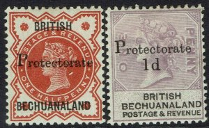 BECHUANALAND 1888 QV PROTECTORATE 1/2D AND 1D