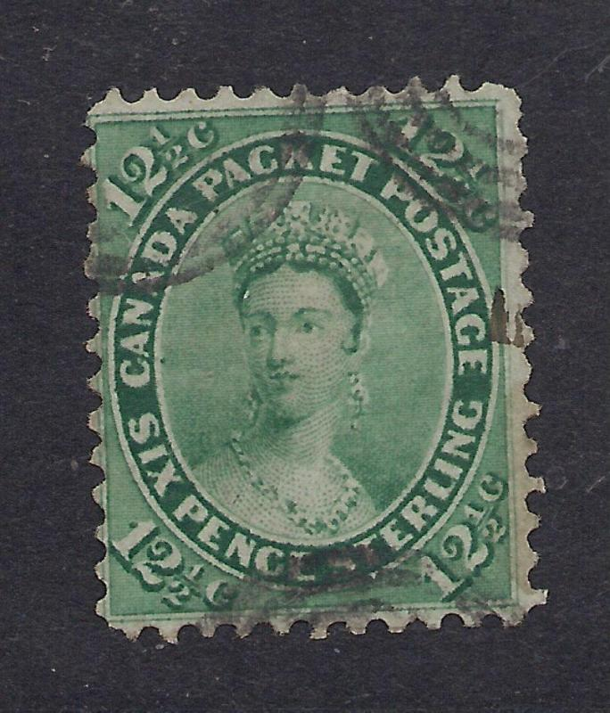 Canada #18 Blue Green - 12 1/2 Pence - Used
