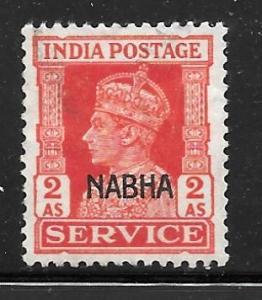 India Nabha O46: 2a George VI, used, F-VF