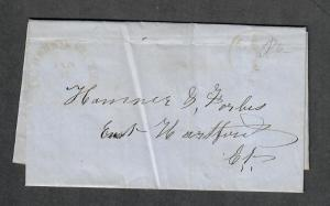 Henniker NH Orange Jan 1853-Contents Stampless Cover
