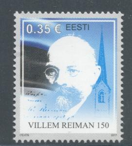Estonia Sc 665 2011 Reiman stamp mint NH