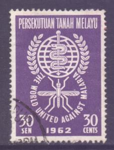 Malaya Federation Scott 103 - SG24, 1962 Anti - Malaria 30c used