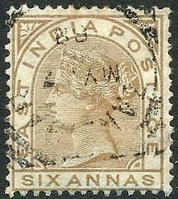 Zanzibar SGZ60 6a Pale Brown Z5 Squared Circle dated 7th May 1888