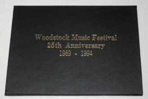 Woodstock Music Festival 25th Anniversary 1969-1994 Souvenir sheets w Hardcover