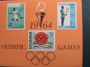 GHANA -1964-SC#185a  OLYMPIC GAMES IMPERF: MNH S/S SHEET VERY FINE