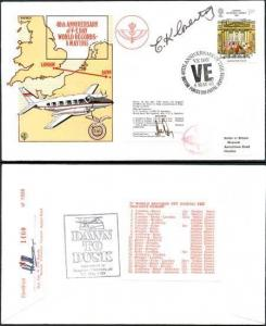 RD7a 40th Anniv of V-E Day World Records Pilot and Vice Chairman Signed