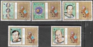 Sharjah MNH Set Of 5 Space Apollo 17 Astronauts 1972