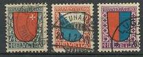 Switzerland B15-B17 used (1920)