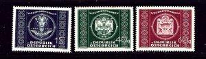 Austria 565-67 MNH 1949 UPU 75th Anniversary