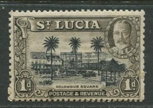 St. Lucia - Scott 96a - KGV - Definitive -1936 - MH -Single 1p Stamp
