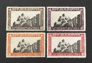 San Marino 1935 #161-3,66, 12th Anniversary Fascism, Unused/mh.
