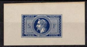 France 37 Yv 33 Fake Trial Color Proof Deep Blue on thick Paper NGI VF 1869
