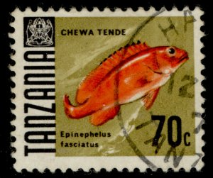 TANZANIA QEII SG150, 1969 75c, FINE USED.