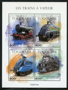 TOGO 2020  STEAM TRAINS SHEET MINT NEVER HINGED