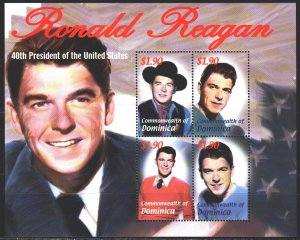 Dominica. 2002. 3395-98. Reagan, US President. MNH.