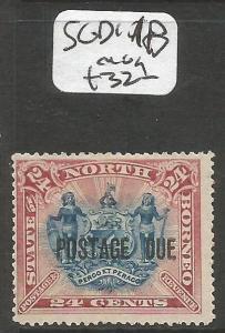 North Borneo Postage Due SG D11b MOG (4cln)