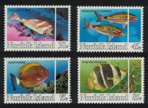 Norfolk Reef Fishes 4v SG#334-337 SC#339-342