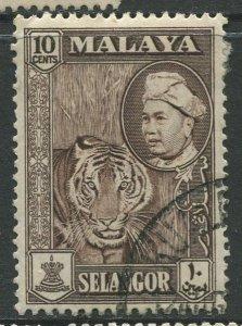 STAMP STATION PERTH Selangor #107 Sultan Hisam-ud-Din Alam Shah Used 1957-60