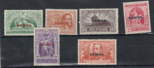 Samoa 1920 Victory O/P Set SG143/148 MLH JK6199