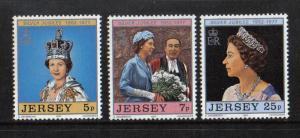 Jersey  1977  MNH Silver Jubilee Queen Elizabeth II complete