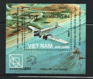 Vietnam, Democratic Republic of  (1984 ) - Scott # 1396, UPU Congress'84, Planes