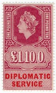 (I.B) Elizabeth II Revenue : Diplomatic Service £1 10/-