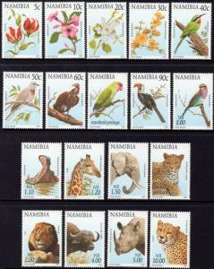 Namibia - 1997 Flora and Fauna Set MNH** SG 749-766