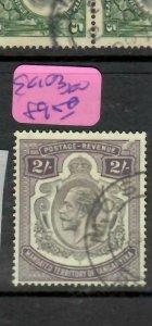 TANGANYIKA  (P2305B)  KGV  2/-  SG 103  MOSHI  VFU