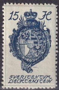 Liechtenstein #34  F-VF Unused  (SU7182)