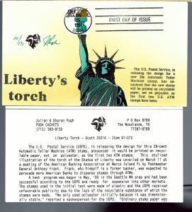 Inspiring Pugh Designed/Painted Liberty's Torch FDC...171 covers Created!