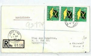 JAMAICA Cover Registered *Clarks Town* Browns Town {samwells-covers}1967 CS17