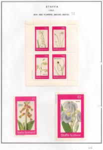SCOTLAND - STAFFA - 1982 - Flowers #30 - Perf 4v, Souv, D/L Sheets - MLH