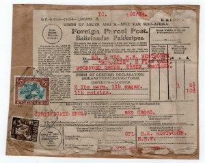 (I.B) South Africa Postal : Red Cross Food Parcel 2/9d