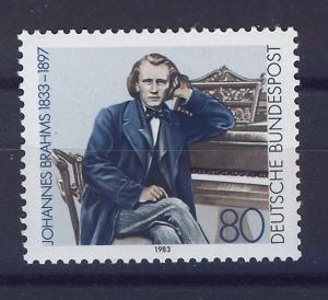 ALEMANIA/RFA WEST GERMANY 1983 MNH SC.1394 Johannes Brahms,composer