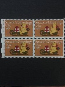 US stamp block, MNH,  Genuine, RARE, List 921