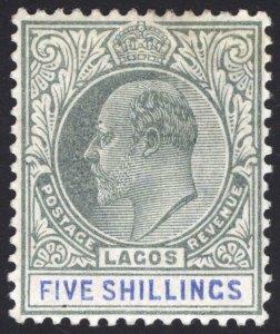 Nigeria Lagos 1904 5s Green & Blue WMK CA SG 52 Sc 48 VLMM/MVLH Cat £130($169)