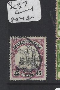 GERMAN EAST AFRICA  (P0205B)  45H  SHIP SC 37   VFU  BETTER CANCEL