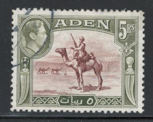 Aden 1939 King George Vi & the Camel Corpsman 5r Scott # 26 Used