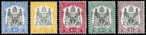 British Central Africa Scott 43, 45-46, 48, 50 (1897) Mint H VF, CV $83.00 B