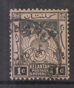 Malaya Kelantan 1921 Sc 15 1c Used