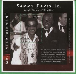 SAMMY DAVIS JR. Mr. Entertainment Souvenir Sheet MNH - Sierra Leone E39