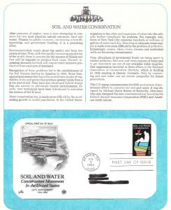 US 2074 FDC  Postal Commemorative Society. Soil & Water Conservation