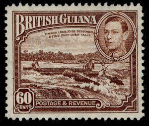 BRITISH GUIANA GVI SG315, 60c red-brown, VLH MINT. Cat £23.