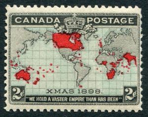 CANADA - # 85 F-VF Never Hinged Issue - BRITISH EMPIRE MAP MERCATOR PROJ - S5577