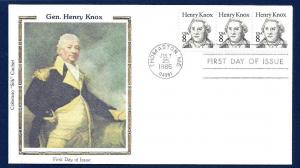 UNITED STATES FDC 8¢ Henry Knox 1985 Colorano