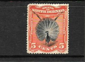 NORTH BORNEO  1894    5c  PICTORIAL    MHH    SG 72