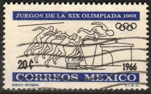 MEXICO 974, 20c 2nd Pre-Olympic Issue. Used. F-VF. (337)